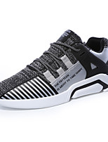 Men's Sneakers Comfort Light Soles Summer Fall Tulle Casual Outdoor Flat Heel Gray Black White Flat