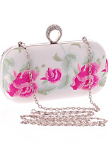 Women Bags All Seasons Polyester Evening Bag Embroidered for Wedding Event/Party Formal White