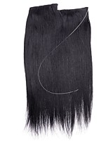 20inch Straight Remy Hair Invisible Wire Human Hair Extensions one piece 80g