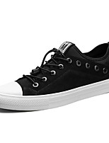 Men's Sneakers Walking Comfort Nylon Fall Winter Wedding Casual Party & Evening Gore Flat Heel Khaki Black Flat