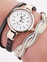 Damen Modeuhr Armband-Uhr Einzigartige kreative Uhr Armbanduhren für den Alltag Chinesisch Quartz Imitation Diamant Legierung PU Band