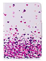 abordables -Caso para el ipad mini 1 2 3 caja del teléfono del caso de la PC de la tableta del caso de la PU del patrón del corazón de la cubierta del