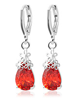 Drop Earrings Earrings Set Jewelry Women Wedding Party Casual Alloy Rhinestone 1 pair White Red