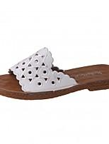Da donna Pantofole e infradito Comoda PU (Poliuretano) Estate Casual Piatto Bianco Beige 5 - 7 cm