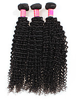 cheap -Unprocessed Peruvian Natural Color Hair Weaves Kinky Curly Hair Extensions 3PCS Black