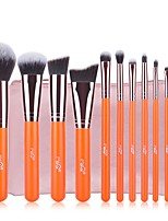 11 Makeup Brush Set Synthetic Hair Easy Carrying Easy to Carry Aluminum Wood Men Men and Women Eye Daily Eyes Lips Eyelash Lip