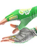 Meio dedo Tecido Oxford Luvas motocicletas