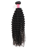 7A Brazilian Deep Wave Curly Virgin Hair 1Pcs Kinky Culry Human Hair Weave Full And Thick No Tangle No Shedding