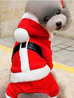 Cane Felpe con cappuccio Abbigliamento per cani Da serata Natale Natale Rosso