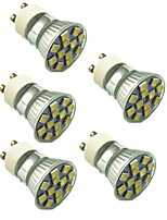 1.5W LED Spotlight 12 SMD 5050 130 lm Warm White Cold White 2800-7000 K Decorative AC220 V