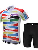 Fahrradtrikot mit Trägerhosen Herrn Kurzarm Fahhrad Shorts/Laufshorts Hemd Sweatshirt Trikot/Radtrikot Oberteile Rasche Trocknung