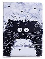 Capa de capa para ipad pro 10.5 ipad (2017) carteira de suporte de cartão com suporte flip caso de corpo inteiro gato duro pu couro para
