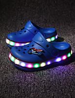 Boys' Clogs & Mules Light Up Shoes EVA Summer Casual Outdoor Flat Heel Royal Blue Green Black Flat