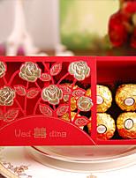 50 Фавор держатель-Кубический Картон Розовая бумага Коробочки Подарочные коробки