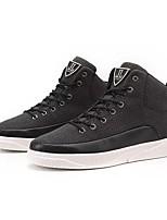 Da uomo Sneaker Suole leggere Primavera Autunno PU (Poliuretano) Casual Lacci Piatto Bianco Nero Beige Piatto