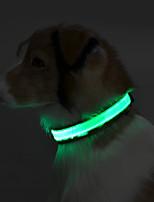 Ошейники Отражение LED подсветка Однотонный Терилен