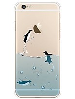 Caso para iphone 7 6 pinguim tpu soft ultra-fino tampa capa traseira iphone 7 mais 6 6s mais se 5s 5 5c 4s 4