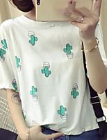 T-shirt Da donna Casual Semplice Con stampe Rotonda Cotone Altro Manica corta
