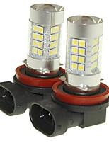 Sencart 2pcs H11 PGJ19-2 Fog Driving Light Headlight Bulbs Lamps(White/Red/Blue/Warm White) (DC/AC9-32V)