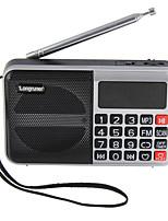 L-62 Rádio portátil Relogio Despertador Player MP3 Despertador Cartão TFWorld ReceiverPrata Vermelho