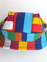 Cat Dog Bandanas & Hats Hair Accessories Dog Clothes Party Casual/Daily Cowboy Sports Christmas Stripe Rainbow