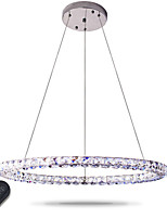 Modern LED Ring Crystal Pendant Lights Modern Crystal Chandeliers Ceiling Light Indoor Lamp Fixtures Dimmable with Remote Control