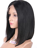 cheap -Luffy Unprocessed Brazilian Human Hair Bob Straight Full Lace Wig Silky Straight Bob Cut Wig with Baby Hair Bleached Knots