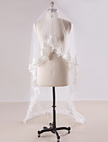Wedding Veil One-tier Chapel Veils Cathedral Veils Lace Applique Edge Lace Tulle