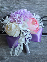 Wedding Flowers Grace Boutonnieres Wedding / Special Occasion Satin / Fabric Corsage for The Bridegroom 1 Piece