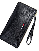 Unisex Checkbook Wallet Cowhide All Seasons Wedding Event/Party Office/Career Shopping Daily Casual Formal Party & Evening Office & Career