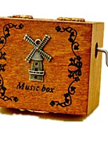 Music Box Windmill Toy Cars Toys Windmill Carousel Plastics Wood Pieces Unisex Birthday Valentine's Day Gift