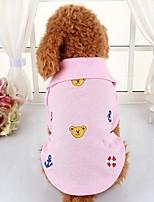 Cane T-shirt Abbigliamento per cani Casual Animali Giallo Fucsia Rosso Verde Rosa