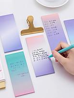 1 pc Farbverlauf Farbe Selbstklebe Notizen 40 Seite (zufällige Farbe)