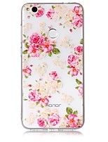 cheap -Case For Huawei Huawei P8 Lite Transparent Pattern Back Cover Flower Soft TPU for P10 Lite P10 P8 Lite (2017) Huawei P8 Lite Honor 8 Nova