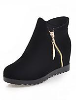 Для женщин Ботинки Удобная обувь Оригинальная обувь Модная обувь Весна Зима Дерматин Повседневные В горошек На танкетке Черный Красный