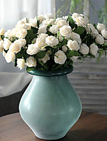 5Heads/Branch PE Country Style Camellia Home Decoration Artificial Flowers