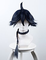 mês branco azul longo pequeno trinco cosplay sintético caplss perucas
