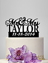Personalized Acrylic Bride And Groom Anniversary Wedding Cake Topper