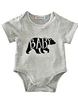 Baby Animal Print One-Pieces,Cotton Summer Short Sleeve