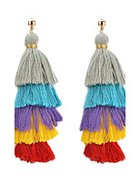 Women's Drop Earrings Tassel Multi Layer Fashion Classic Elegant Alloy Jewelry For Daily Casual Evening Party Formal Date Street