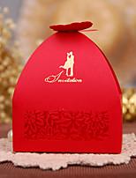 100 Porta-bomboniera-Cubi Carta Carta perlata Bomboniere scatole Confezioni regalo