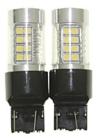 Sencart 2pcs 7443 W21 21W W3X16Q Bulb Led Car Tail Turn Reverse Light Bulb Lamps(White/Red/Blue/Warm White) (DC/AC9-32V)