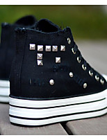 Women's Shoes Canvas Spring Fall Comfort Sneakers For Casual White Black