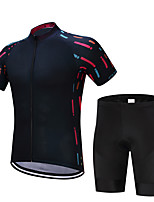 Cycling Jersey with Bib Shorts Men's Short Sleeves Bike Sweatshirt Jersey Shorts Shirt Tops Quick Dry Moisture Permeability 4D Pad
