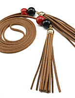 Super Fiber Tassel Soft Leather Waist Rope