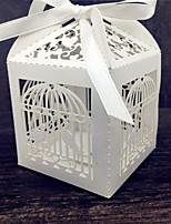 50 Suportes para Lembrancinhas-Cúbico Papel Pérola Caixas de Ofertas