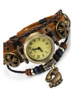 Women's Fashion Watch Bracelet Watch Quartz Leather Band Brown