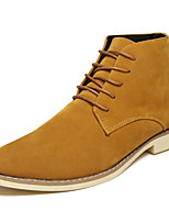 cheap -Men's Shoes Suede Spring Fall Comfort Boots Booties/Ankle Boots for Casual Outdoor Blue Yellow Black