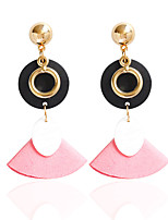 Drop Earrings Hoop Earrings Earrings Set Jewelry Women Alloy Wood 1 pair Black White Candy Pink