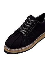Da uomo Sneaker Suole leggere Primavera Autunno Cashmere Casual Lacci Piatto Nero Marrone Cachi 5 - 7 cm